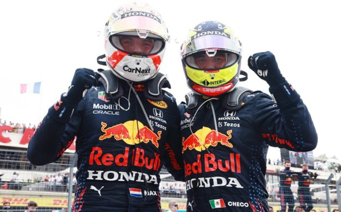 Redbull driver Max Verstappen won the French Grand Prix on Sunday 20 June 2021 in Le Castellet, while teammate Sergio Perez came in third. Picture: Twitter/@redbullracing