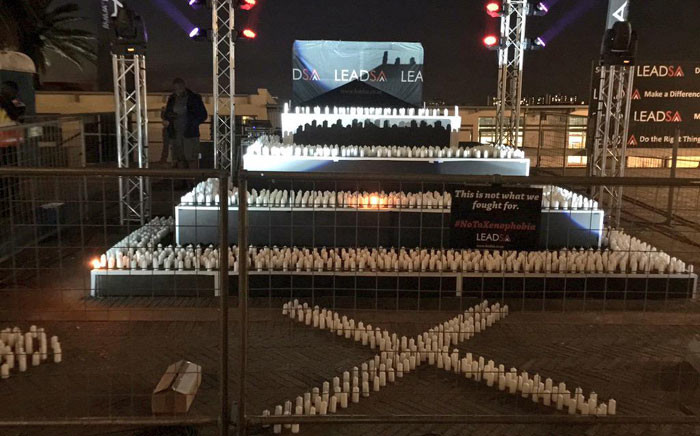 2067 candles were ready to be lit for the vigil on Tuesday evening. Picture: Emily Corke/EWN.