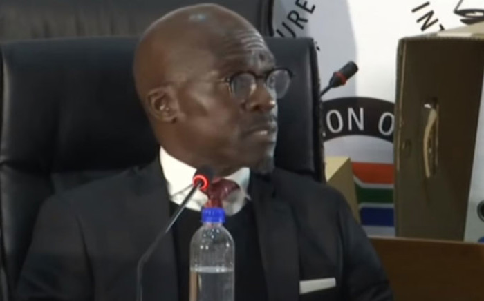 A screengrab of former minister Malusi Gigaba appearing at the state capture inquiry on 18 June 2021. Picture: SABC/YouTube