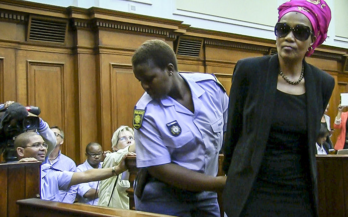 FILE: Convicted murderer Thandi Maqubela is handcuffed after sentencing in the High Court before she is led to the holding cells. Picture: Thomas Holder/EWN.