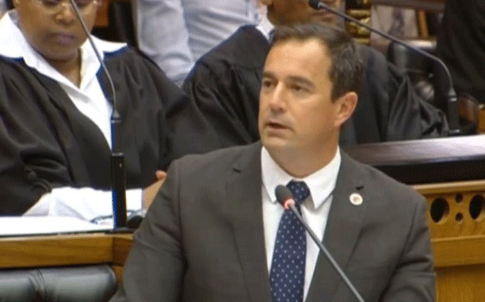Democratic Alliance (DA) interim leader John Steenhuisen during the debate on Ramaphosa's State of the Nation Address (Sona). Picture: YouTube screengrab.