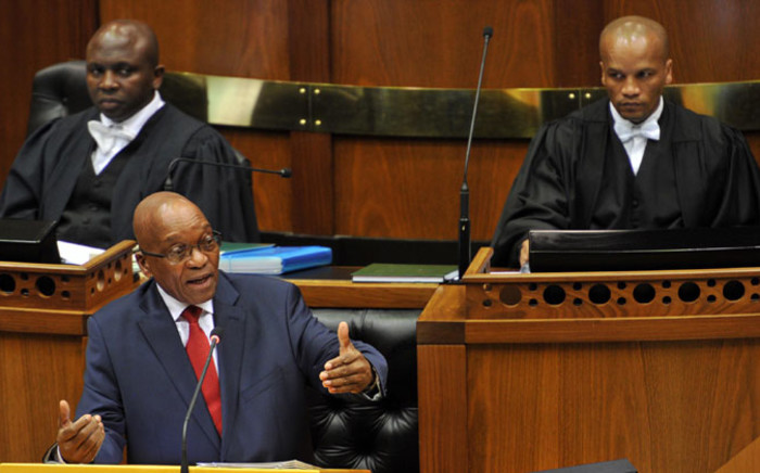 FILE: President Jacob Zuma responds to Parliamentary questions in the National Assembly, on 21 August 2014, Picture: GCIS.