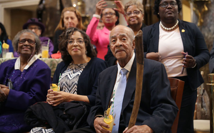 Members of Congress, guests and family members attend an event honoring Nasa's 'Hidden Figures,' African-American women mathematicians who helped the United States' space program in Statuary Hall at the US Capitol 27 March 2019 in Washington, DC. Picture: AFP
