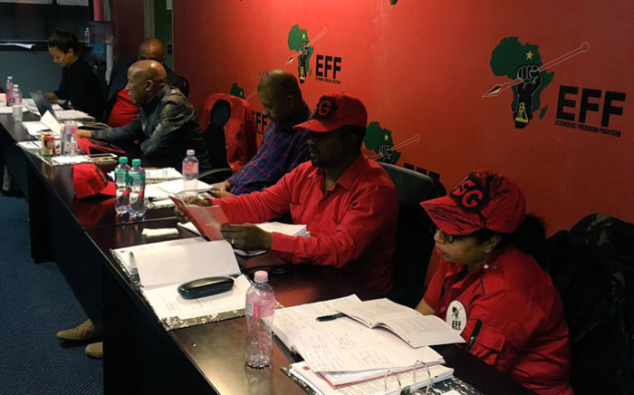 The Economic Freedom Fighters (EFF) leadership meeting in Johannesburg. Picture: @EFFSouthAfrica/Twitter