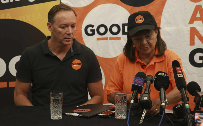 FILE: Good party leader Patricia de Lille and Brett Herron (L) at the Good party manifesto launch. Picture: Cindy Archillies/EWN.