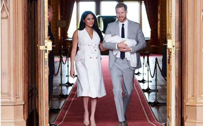 Prince Harry and wife Meghan show off their son to the world for the first time on 8 May 2019. Picture: Instagram/@SussexRoyal