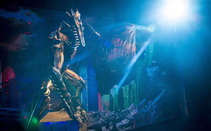 A sculpture of a Transformer at Centurion Mall. Picture: Thomas Holder/EWN