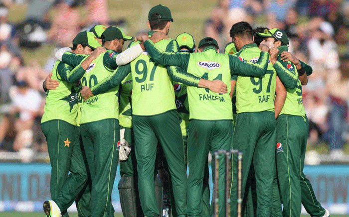 Pakistan team playing against New Zealand on 22 December 2020. Picture: @ICC.