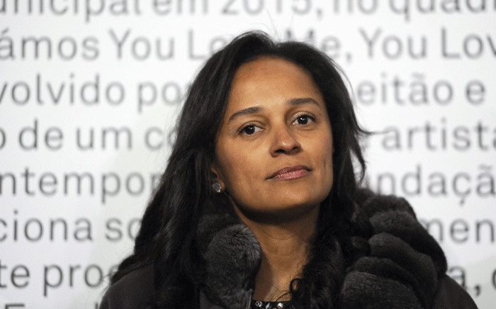 In this file photo taken on March 5, 2015 Angolan businesswoman Isabel dos Santos attends an art exhibition in Porto, northern Portugal. Picture: AFP.