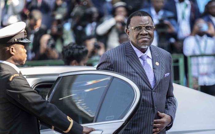 FILE: Namibian president Hage Geingob. Picture: Abigail Javier/EWN.