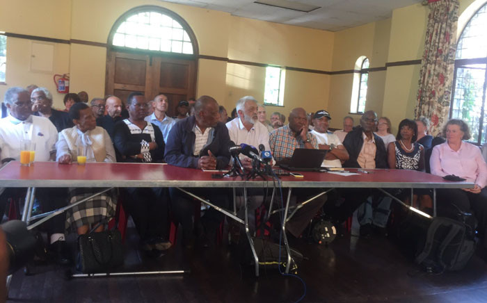 ANC struggle stalwarts briefing the media. Picture: Clement Manyathela/EWN.