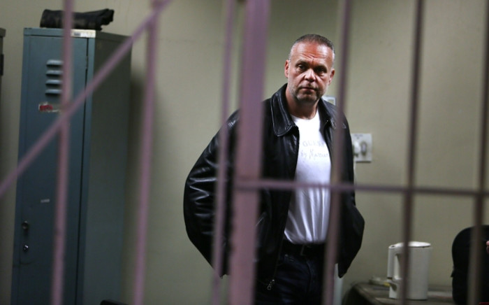 Radovan Krejcir waiting in the holding cells ahead of his bail application at the Germiston Magistrates Court on 8 July 2015. Picture: Gallo Images/The Times/Alon Skuy.