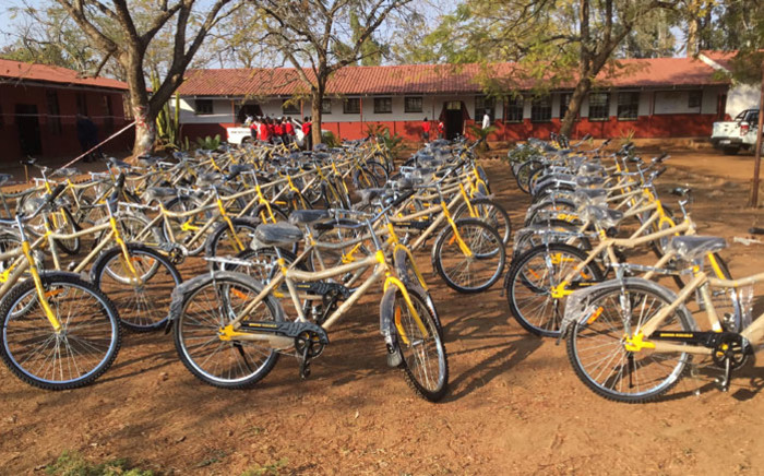 The bicycles to be handed over to learners in Vuwani as part of the Department of Transport's Shova Kalula Bicycle Programme. Picture: @DoTransport/Twitter