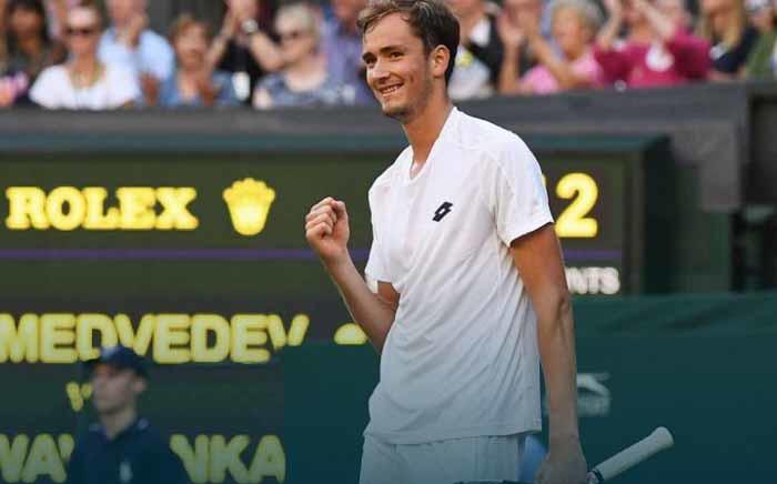 FILE: Russian Daniil Medvedev Daniil Medvedev at Wimbledon. Picture: Twitter/@DaniilMedwed.