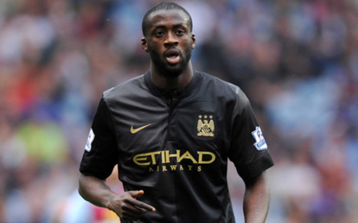 Manchester City's midfielder Yaya Toure during the English Premier League football match against Aston Villa on September 28, 2013. Picture: AFP.