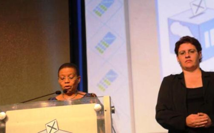 IEC Chairperson Pansy Tlakula announces the final results of South Africa's fifth democratic general elections on 10 May. Picture: EWN.