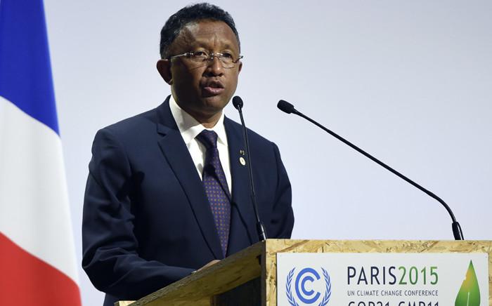 Madagascar's President Hery Rajaonarimampianina. Picture: AFP.
