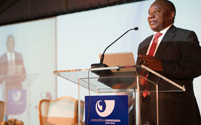 Deputy President Cyril Ramaphosa addresses the 11th annual Competition Law, Economics and Policy Conference of the Competition Commission held at Gordon Institute of Business Science. Picture: GCIS.
