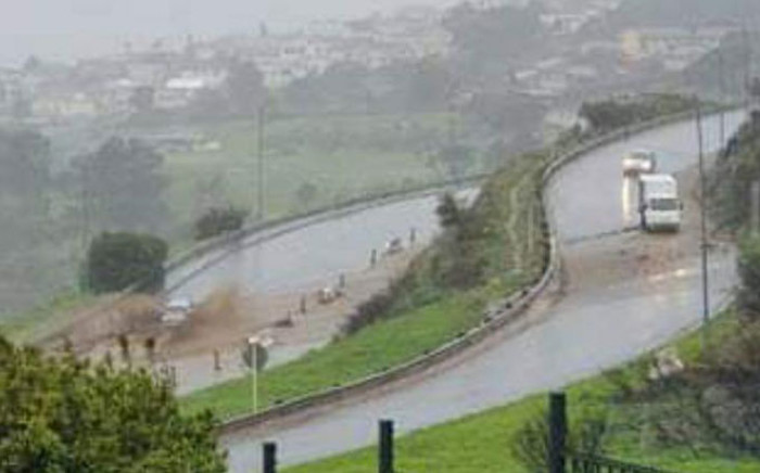 Heavy rain in Cape Town caused some mudslides on Philip Kgosana Drive on 8 July 2021. Picture: Supplied