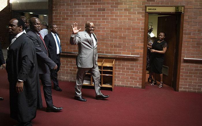 Former president Jacob Zuma at the KwaZulu-Natal High Court in Pietermaritzburg on 23 May 2019. Picture: Sethembiso Zulu/EWN.