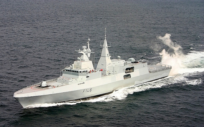 The SAS Isandlwana, one of the navy frigates acquired in the arms deal. PICTURE: Dean Wingrin