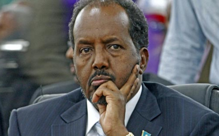 Somalia's President Hassan Sheikh Mohamud looks on in Mogadishu on 10 September, 2012. Picture: AFP.