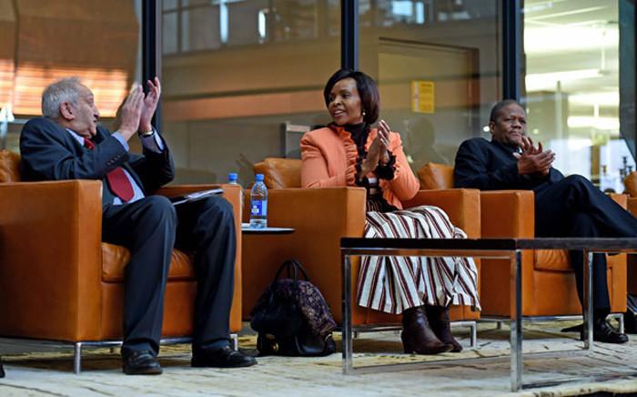 A file photo of George Nene, right, seated next to Maite Nkoana-Mashabane, centre, and Aziz Pahad. Picture: Dirco.