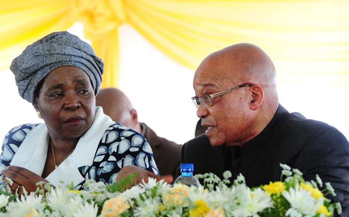 FILE: This file photo shows Dr Nkosazana Dlamini Zuma with President Jacob Zuma. Picture: GCIS.