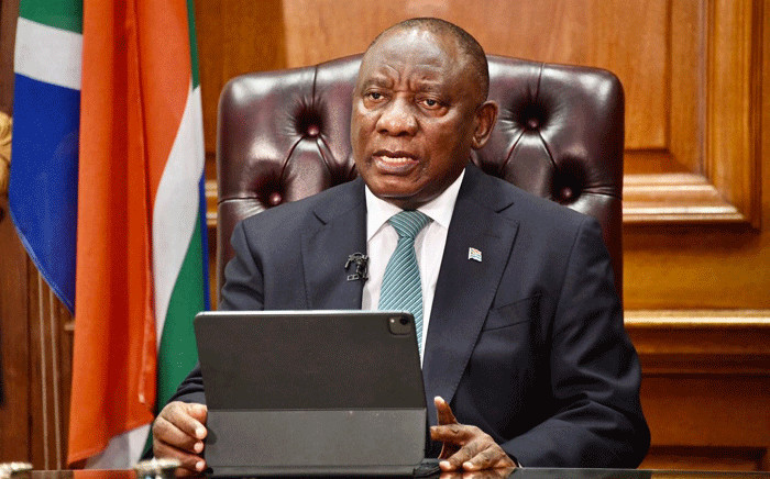 President Cyril Ramaphosa addressed the nation on 1 February 2021 on government's latest efforts to fight the COVID-19 pandemic. Picture: GCIS.
