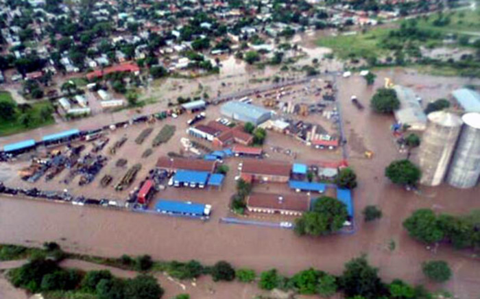 An aerial image from Twitter which claims to be of the flooding in Bela-Bela on 14 March 2014. Picture: @Francois_BPH