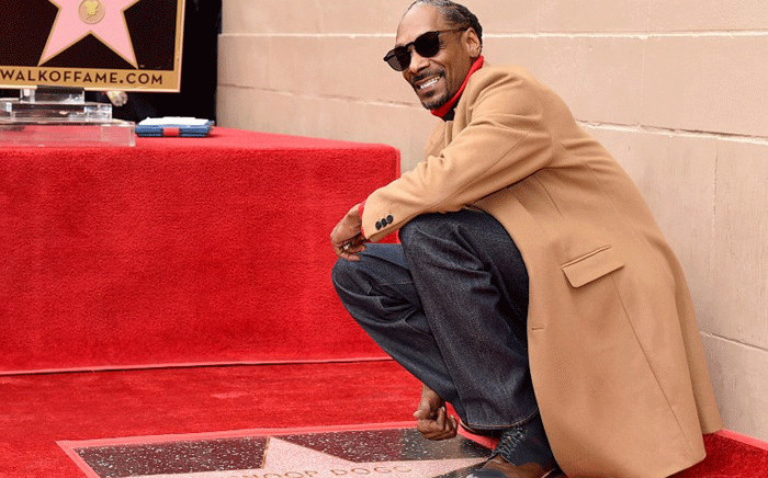 Snoop Dogg is honoured with a star on The Hollywood Walk Of Fame on Hollywood Boulevard on 19 November, 2018 in Los Angeles, California. Picture: AFP