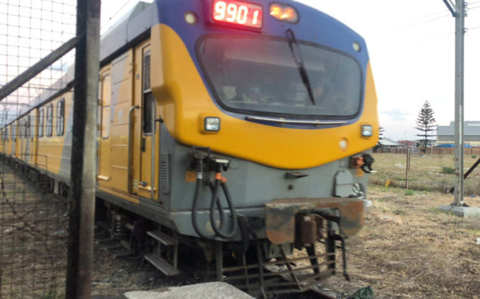 A Metrorail train arrives at Langa station as Prasa resumed operation on Cape Town's central line on 15 February 2021. Picture: @PRASA_Group/Twitter