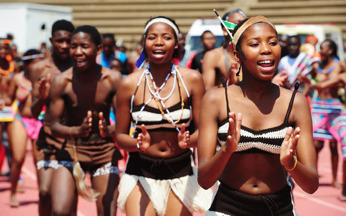 Traditional Dancers at the Heritage Day celebrations at James Motlatsi Stadium in Orkney, North West in 2014. Picture: GCIS.