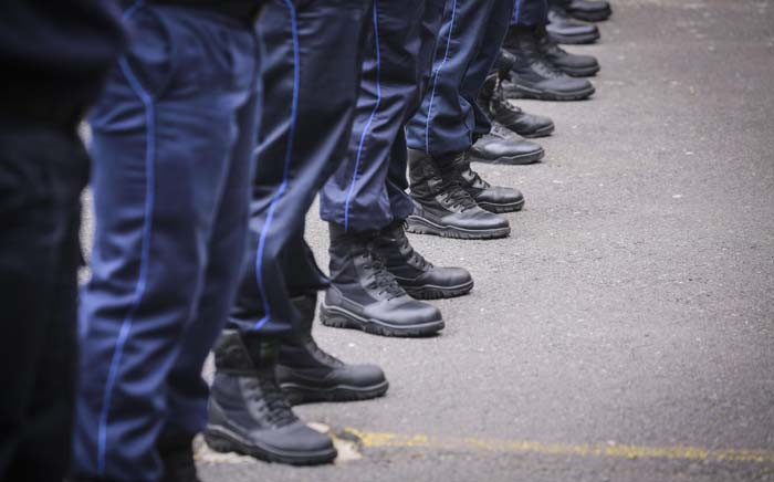 Law enforcement officials at the City of Cape Town Metro Police Training Academy. Picture: Cindy Archillies/EWN