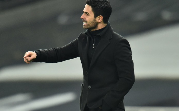 FILE: Arsenal's Spanish manager Mikel Arteta reacts during the English Premier League football match between Tottenham Hotspur and Arsenal at Tottenham Hotspur Stadium in London, on 6 December 2020. Picture: AFP.