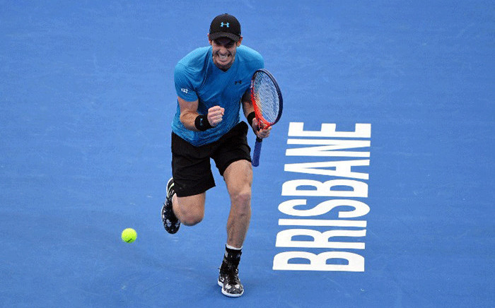 Andy Murray of Britain celebrates beating James Duckworth of Australia in their men's singles first round match at the Brisbane International tennis tournament in Brisbane on 1 January, 2019. Picture: AFP.