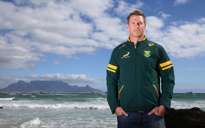 FILE: Springbok captain Jean de Villiers announced his retirement from international rugby after fracturing his jaw during the 2015 Rugby World Cup. Picture: Saru/Facebook.