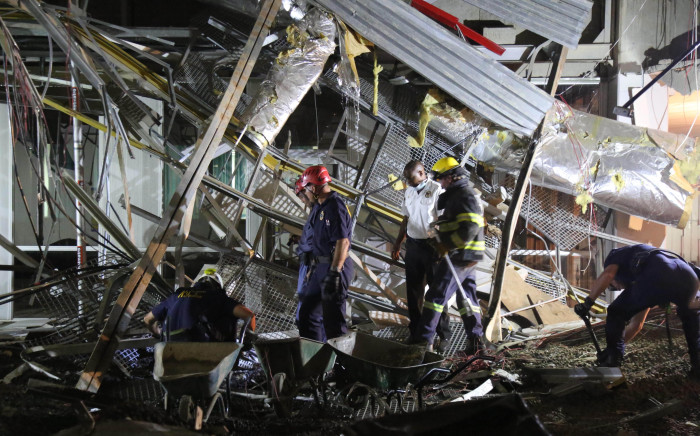 FILE: Emergency Services on the scene of a structural collapse at the Charlotte Maxeke Academic Hospital on 2 March 2017. Picture: Christa Eybers/EWN.