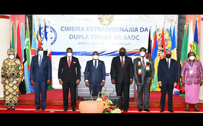 President Cyril Ramaphosa at the Extraordinary Double Troika Summit of Heads of State and Government of the Southern African Development Community (SADC) held in Maputo, Republic of Mozambique, on 8 April 2021. The summit deliberated measures to address terrorism in the Republic of Mozambique. Picture: GCIS.
