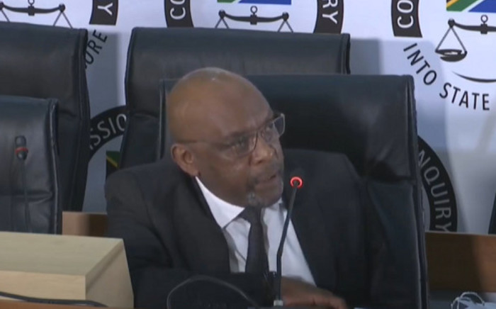 A screengrab of former ANC MP Vincent Smith giving evidence at the state capture inquiry on 4 September 2020. Picture: SABC/YouTube