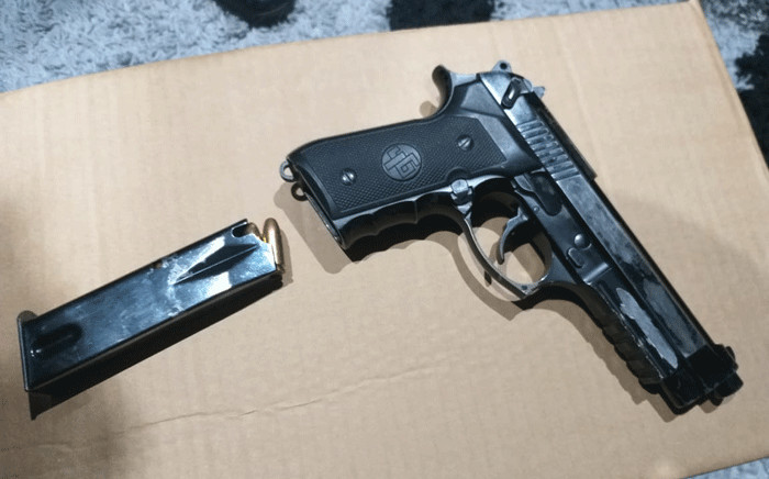 One of the weapons seized during an intelligence driven operation against crime in Cape Town. Picture: @SAPoliceService/Twitter