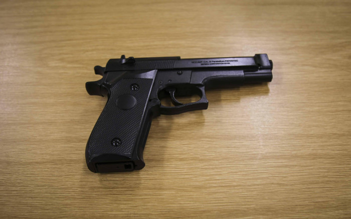 Police say this pellet gun is so realistic that it could easily be mistaken for a real gun. Picture: Cindy Archillies/EWN