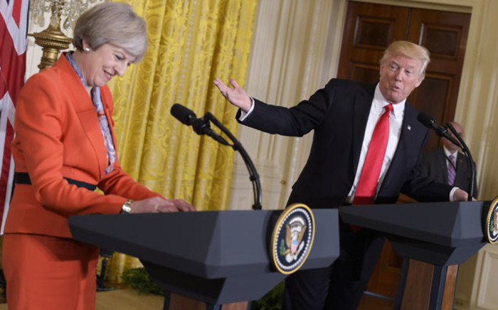 US President Donald Trump speaks during a joint press conference with Britain's Prime Minister Theresa May in the East Room of the White House on 27 January 2017 in Washington, DC. Picture: AFP