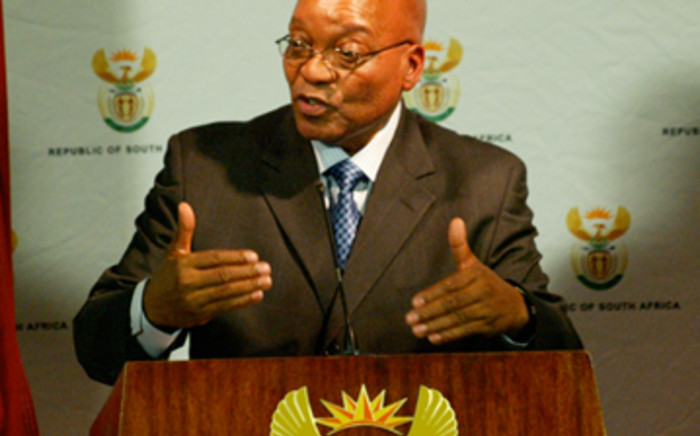 President Jacob Zuma called on the country to support Pirates ahead of their clash with Ah Ahly. Picture: GCIS.