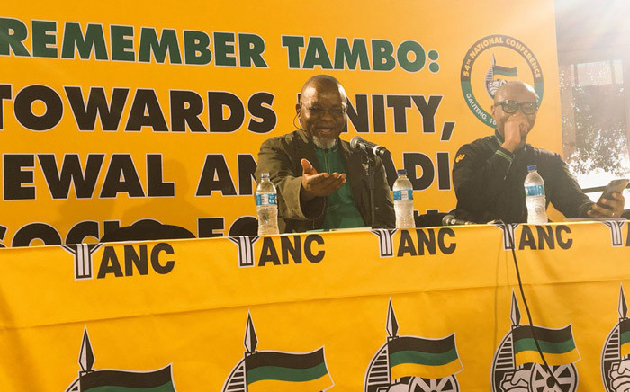 ANC secretary-general Gwede Mantashe and national spokesperson Zizi Kodwa brief the media on the party's state of readiness for the 54th national conference. Picture: Ziyanda Ngcobo/EWN