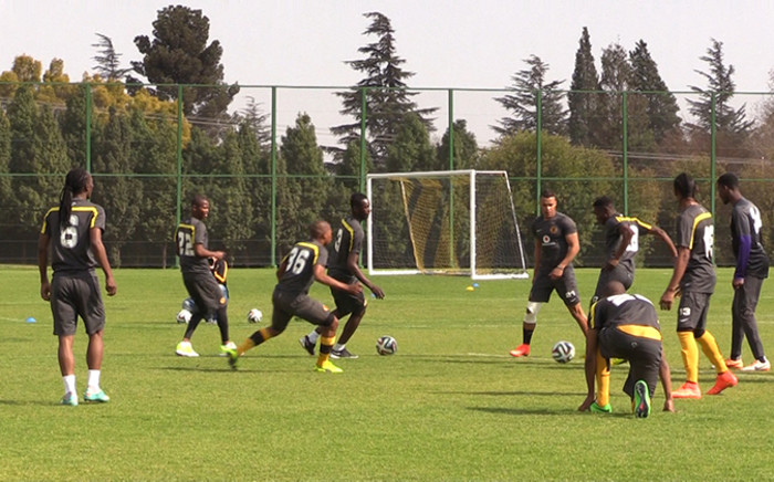 Kaizer Chiefs players train ahead of their MTN 8 semi-final clash with Platinum Stars. Wednesday 20 August 2014. Picture: Vumani Mkhize/EWN.