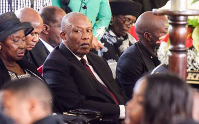 PSL chairperson Dr Irvin Khoza at the funerla of  his wife Mantwa Khoza on Saturday, 25 January 2020. Picture: Twitter/Fikile Mbalula