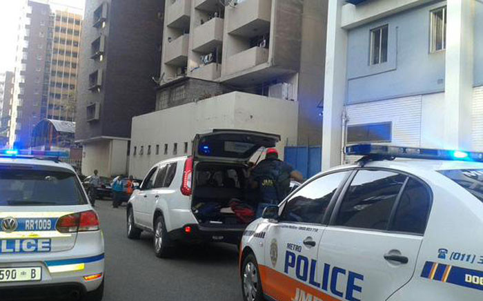 Abramjee sped off and the suspects jumped into a white Toyota tazz and followed him. Picture: ‏@crimeairnetwork.