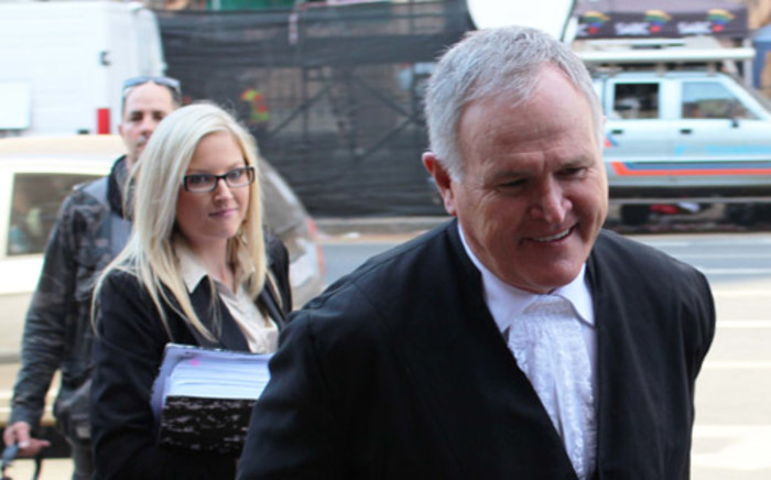 Advocate Barry Roux enters the High Court in Pretoria ahead of Oscar Pistorius' murder trial on 9 May. 2014. Picture: Christa Eybers/EWN.