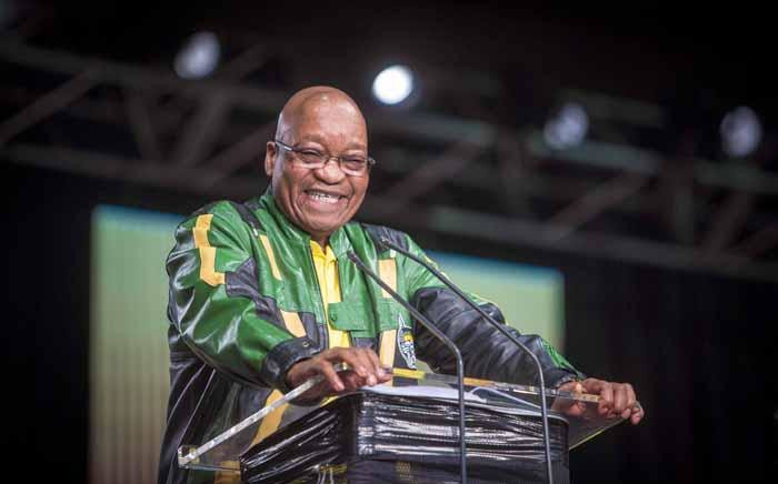 Pres Jacob Zuma makes his address at the final plenary on 5 July 2017. Picture: Thomas Holder/EWN